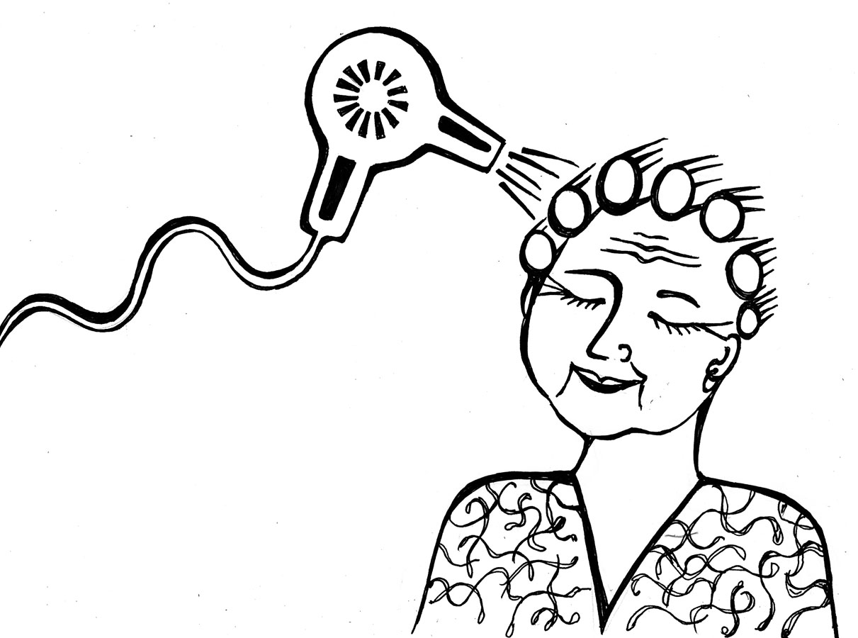 hair care coloring pages - photo#9